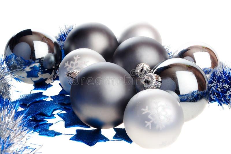Download Dark And Light Silver Christmas Balls Stock Photo - Image: 6958338