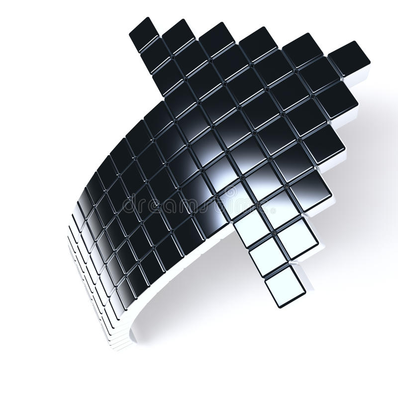 Download Dark Metallic Arrow Royalty Free Stock Photos - Image: 16966178