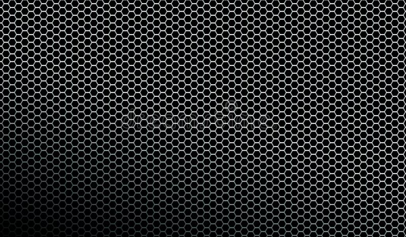 Dark metallic mesh pattern texture background stock illustration