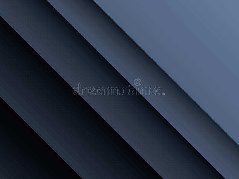 Dark, metallic paper cut layers vector background. Corporate business backdrop with deep shadows and dark colors. royalty free illustration