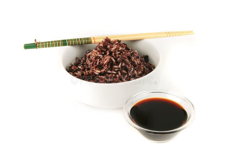 Download Dark Mixed Rice In White Bowl Stock Image - Image: 10658033
