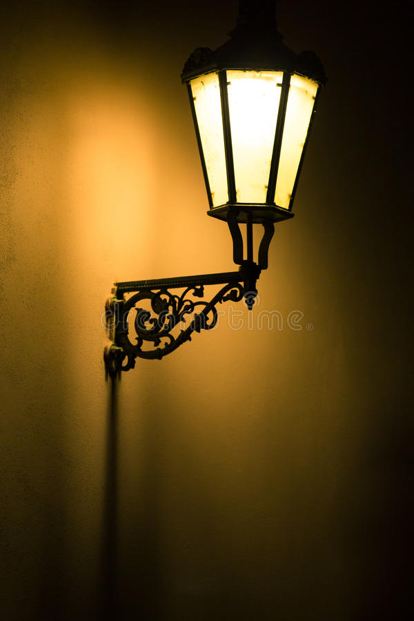 Download Dark Moody Picture Of Old Lamp On Stock Photo - Image of detail, stone: 26005112