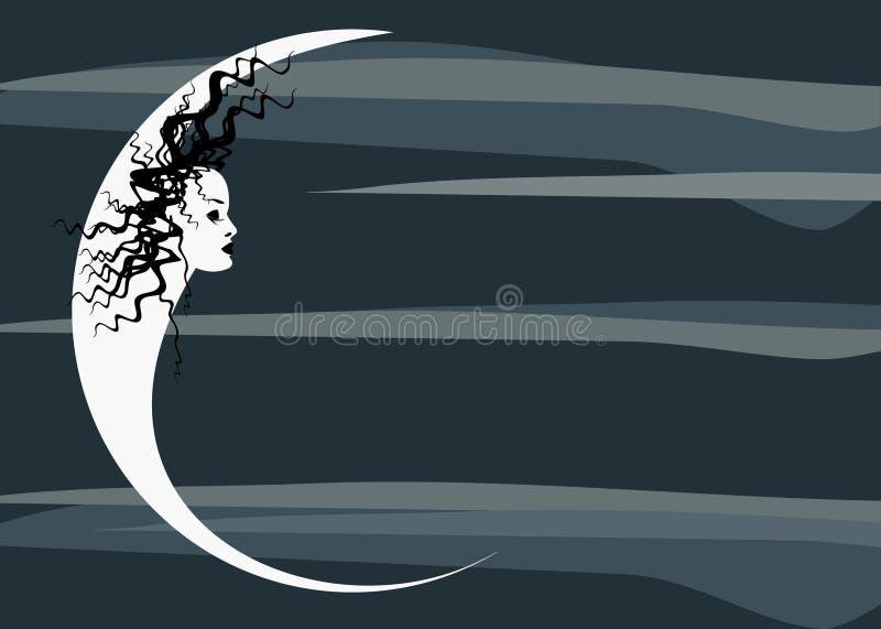 Dark moon. Vector image of dark moon vector illustration
