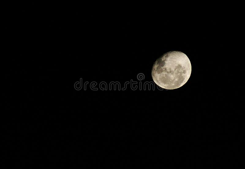 DARK MOON IN THE DARK royalty free stock photography