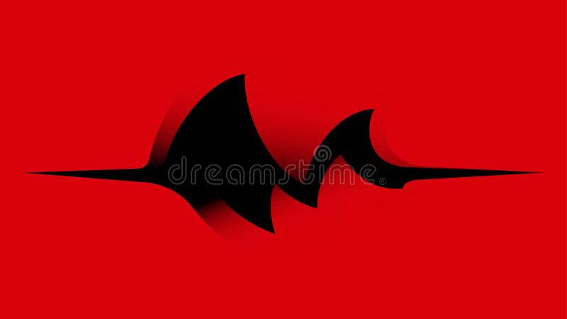 Dark motion wave abstract vector on red background vector illustration