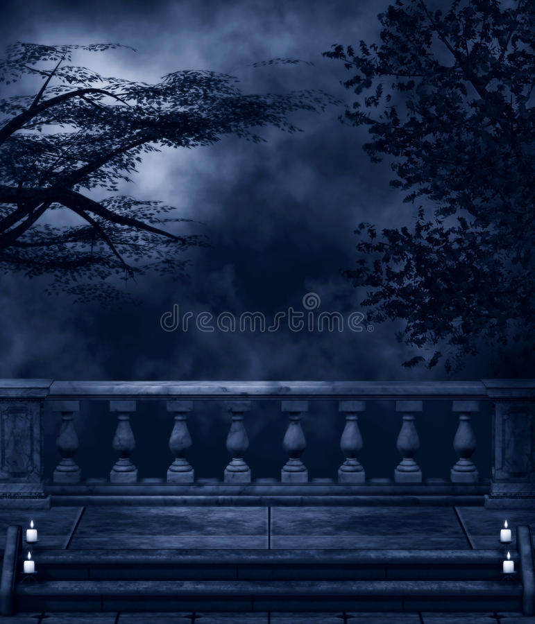 Download Dark Night stock illustration. Image of abstract, candles - 27218173