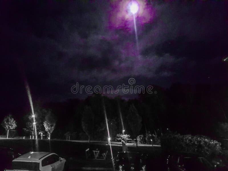 Dark Night Denmark Nakskov image stock