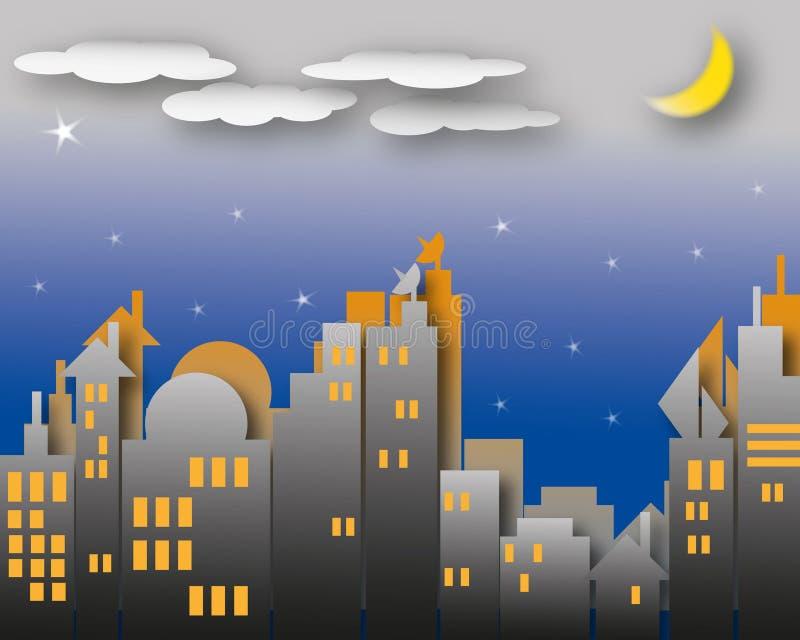 Download Dark night scene stock illustration. Image of landscape - 23322745