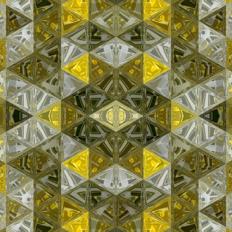 Dark ocher and yellow background pattern texture, triangle lines with stained glass effect. Modern 3d graphic concept royalty free illustration