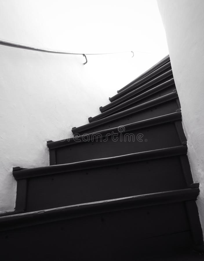 Dark and old staircase royalty free stock images