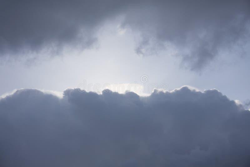 Dark ominous clouds. Dramatic sky.  stock photography