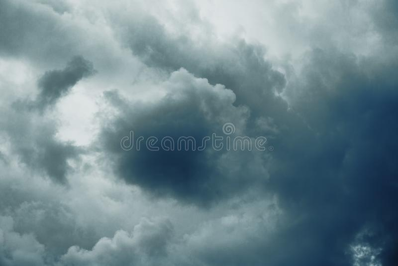 Dark ominous storm clouds. In the sky royalty free stock images