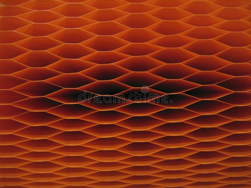 Dark Orange Accordion Lantern Background royalty free stock images