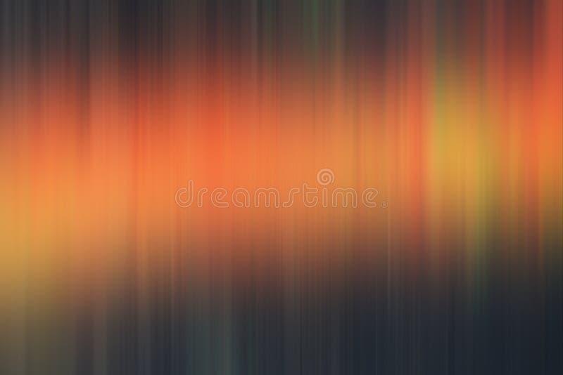 Orange dark blurred abstract background, lights, geometries stock illustration