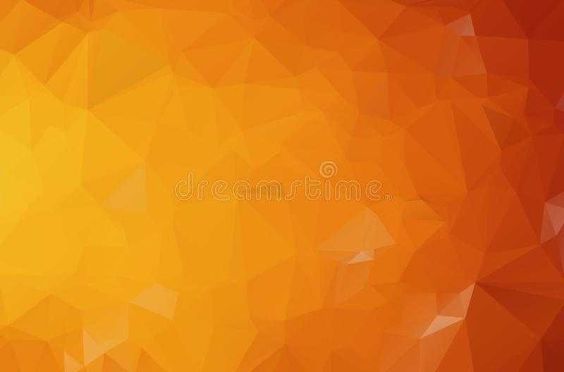 Dark Orange polygonal illustration, which consist of triangles. Geometric background in Origami style with gradient. Triangular vector illustration