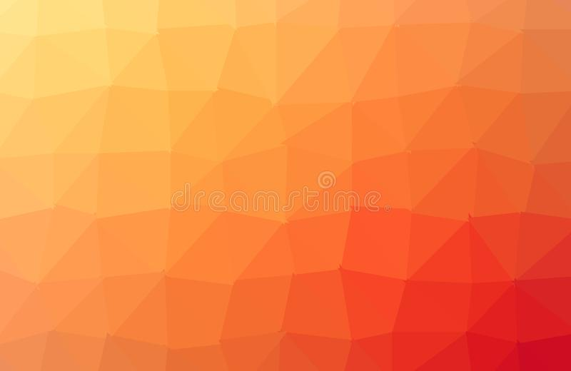 Dark Orange polygonal illustration, which consist of triangles. Triangular design for your business. Creative geometric background. In Origami style with vector illustration