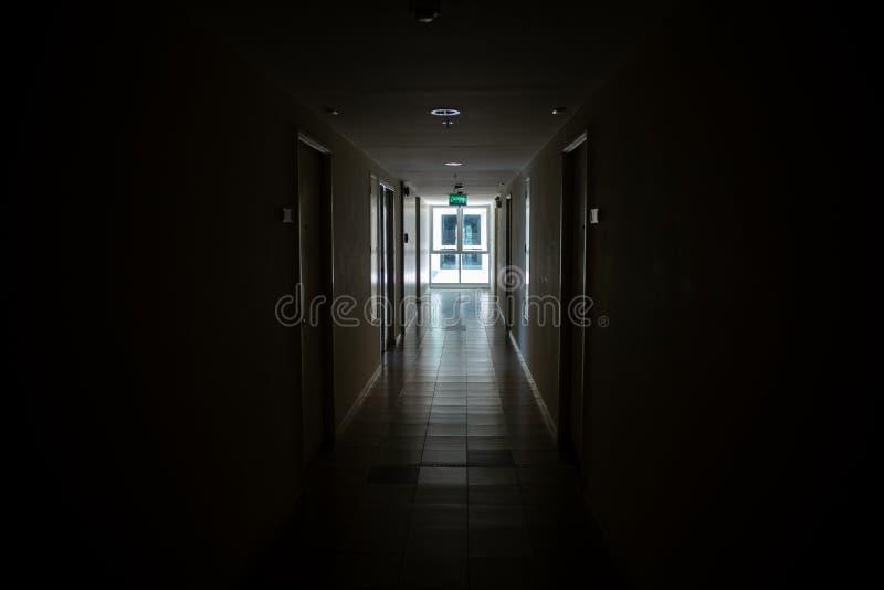 Dark path way lead to light royalty free stock photos