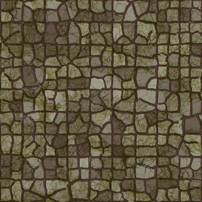 Dark pavement. Seamless texture royalty free illustration