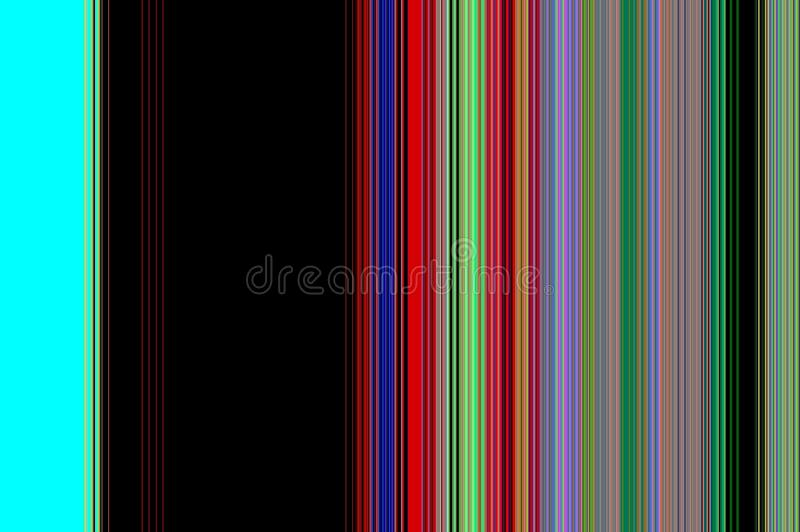 Dark phosphorescent contrast background. Phosphorescent, green, violet, pink, blue and red contrasts and hues with lines, abstract background royalty free illustration