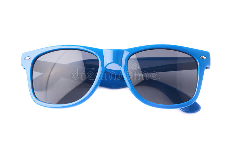 Dark plastic sunglasses isolated stock photography