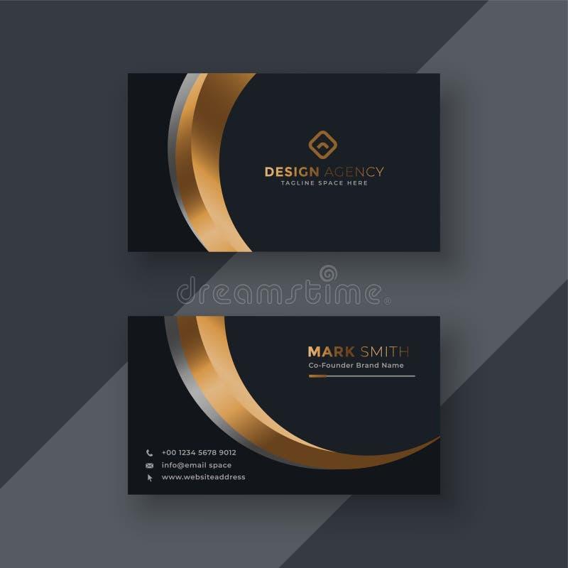 Dark premium business card template vector illustration