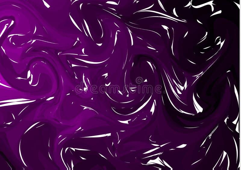 Dark Purple digital marbling. Elegant marbled vector background. Liquid paint marbling backdrop. Cool color palette mesh. Background. Pale marbling texture stock illustration