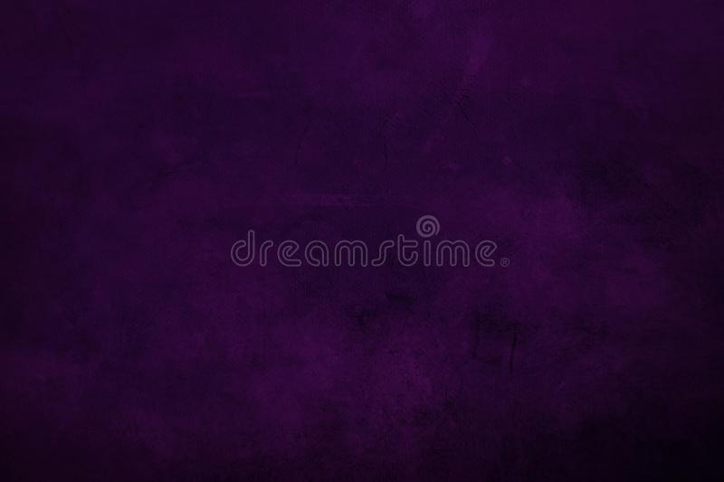 DArk purple grungy canvas background or texture with dark vigne. Grungy painting draft background or texture stock photos