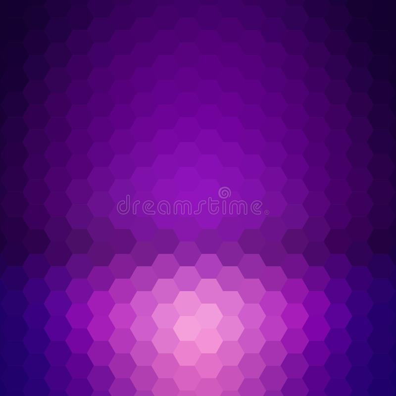 Dark purple hexagon background. abstract illustration. layout for the presentation. polygonal style. eps 10. Dark purple hexagon background. abstract royalty free illustration