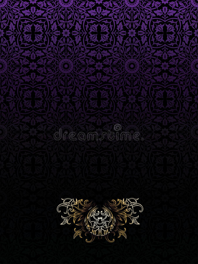 Download Dark Purple Vintage High Ornate Background Royalty Free Stock Images - Image: 15816699
