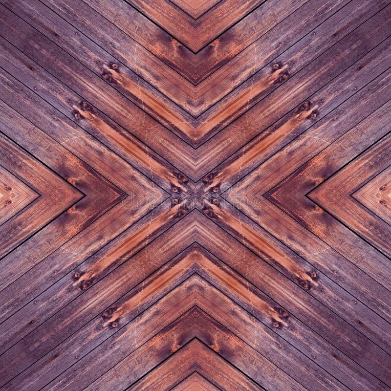 Dark purple Wood background with x cross pattern seamless stock photo