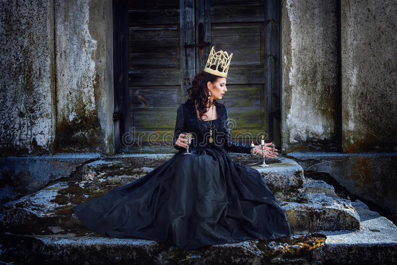 Dark queen royalty free stock photography