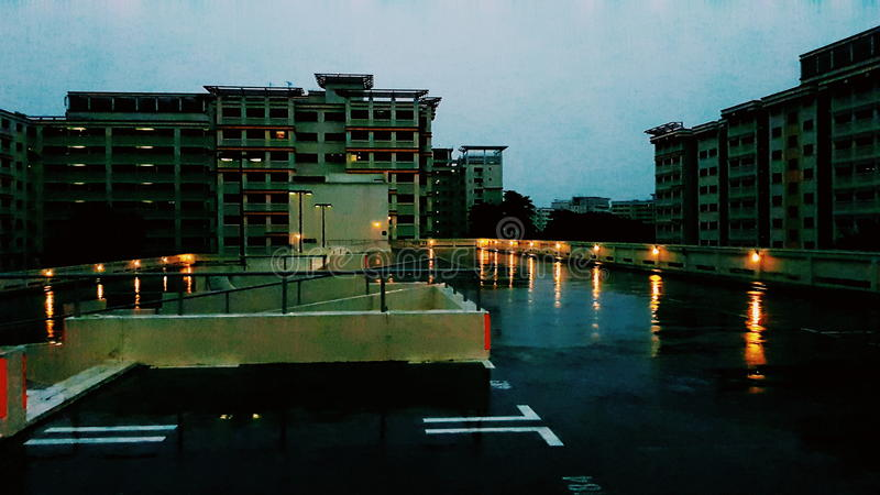 Dark rainy day stock images