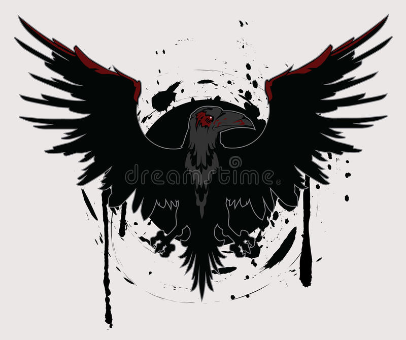 Dark Raven vector illustration