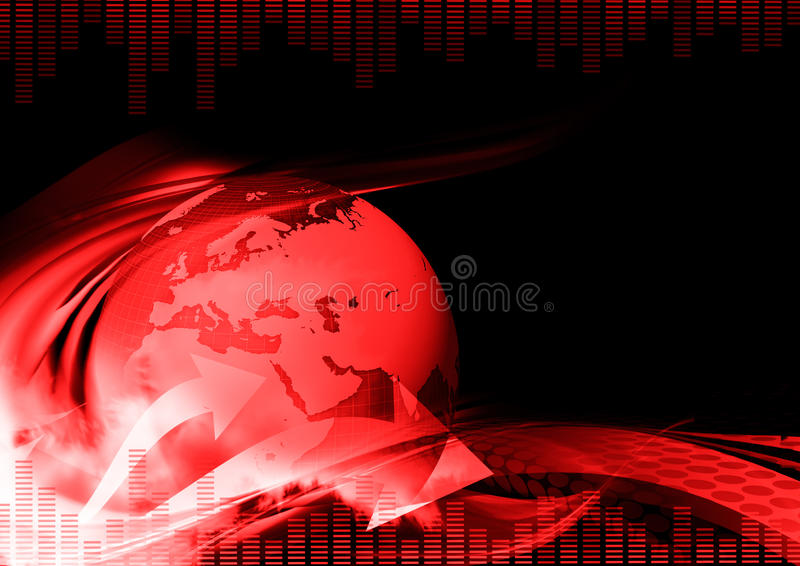 Download Dark Red Abstract Background Stock Illustration - Image: 24035193