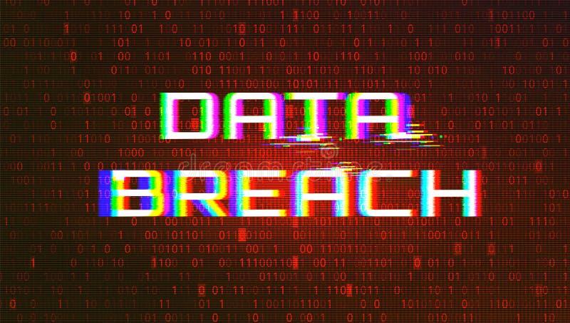 Dark Red BG with Data Breach Glitch Effect. Dark Red Background with Data Breach Glitch Effect vector illustration