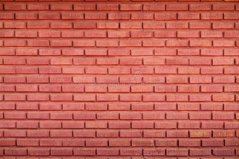 Dark red brick wall for pattern and background. It is dark red brick wall for pattern and background royalty free stock image