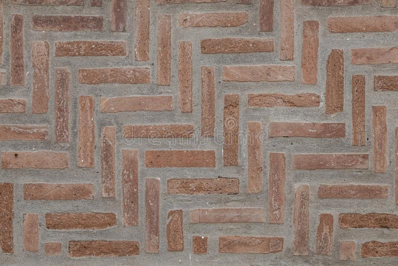 Dark Red Brick Wall textuur Grunge naadloze Tileable Textuur royalty-vrije stock foto's