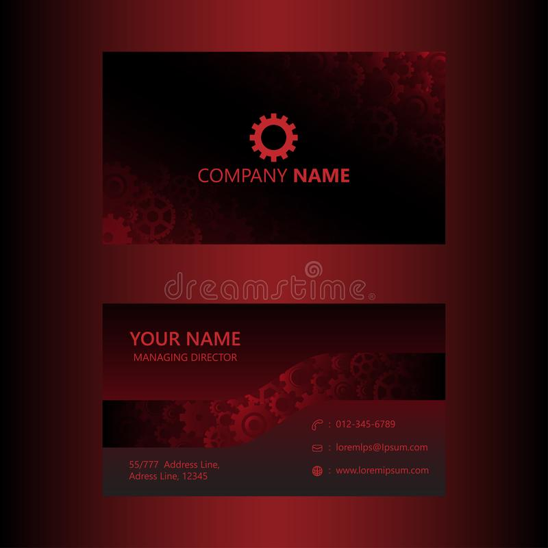 Dark red business card template gears background engineer and download dark red business card template gears background engineer and mechanical concept visiting card cheaphphosting Gallery