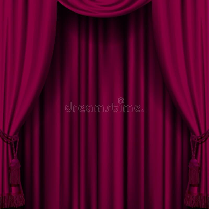 Dark red curtain vector illustration