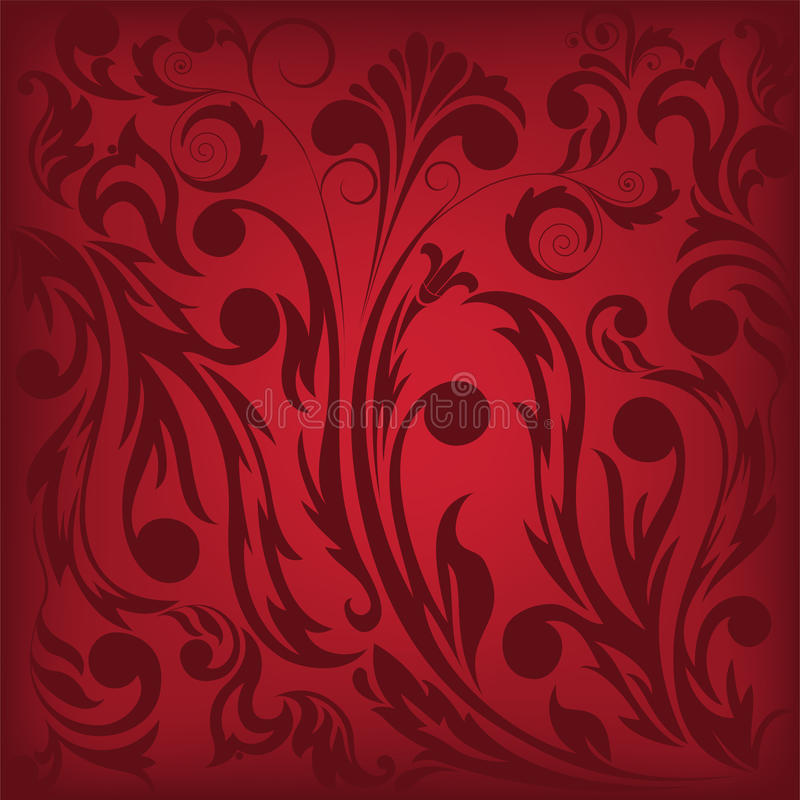 Download Dark red floral background stock vector. Illustration of illustration - 18394142