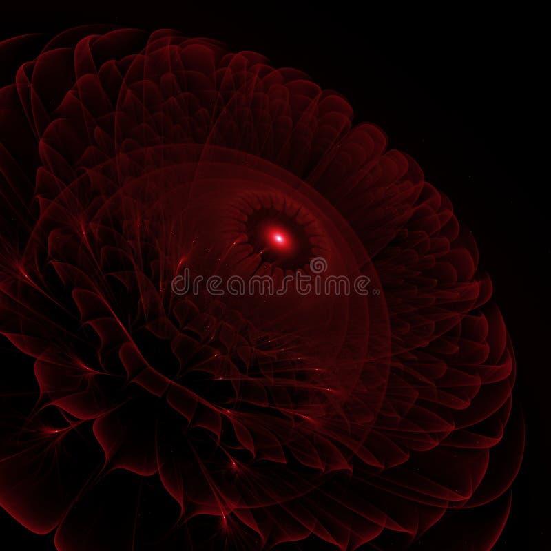 Dark red flower - digitally 3d fractal render stock photography