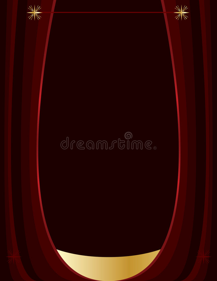 Dark red and gold background vector illustration