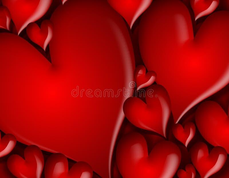 Download Dark Red Hearts Background Pattern Stock Illustration - Image: 3934606