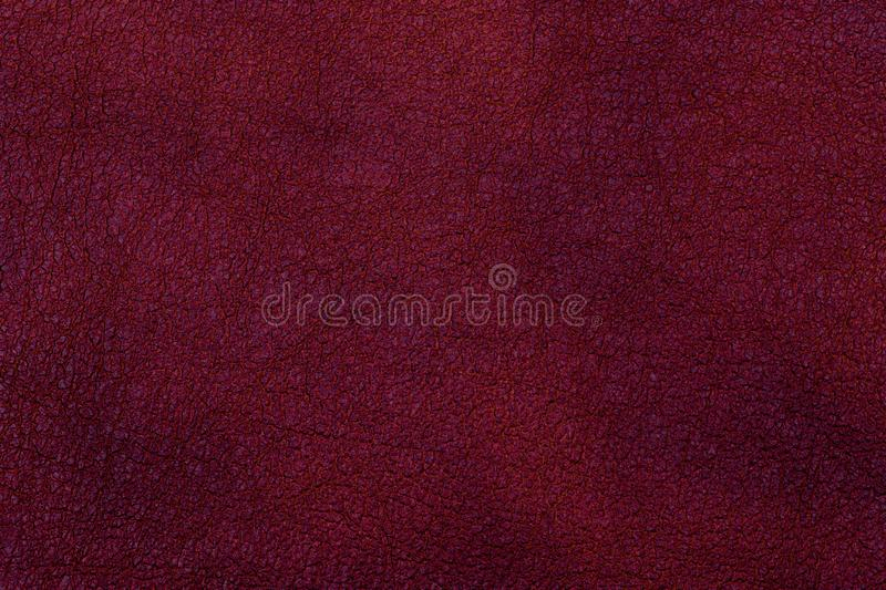 Dark red leather surface as a background, leather texture. stock photos