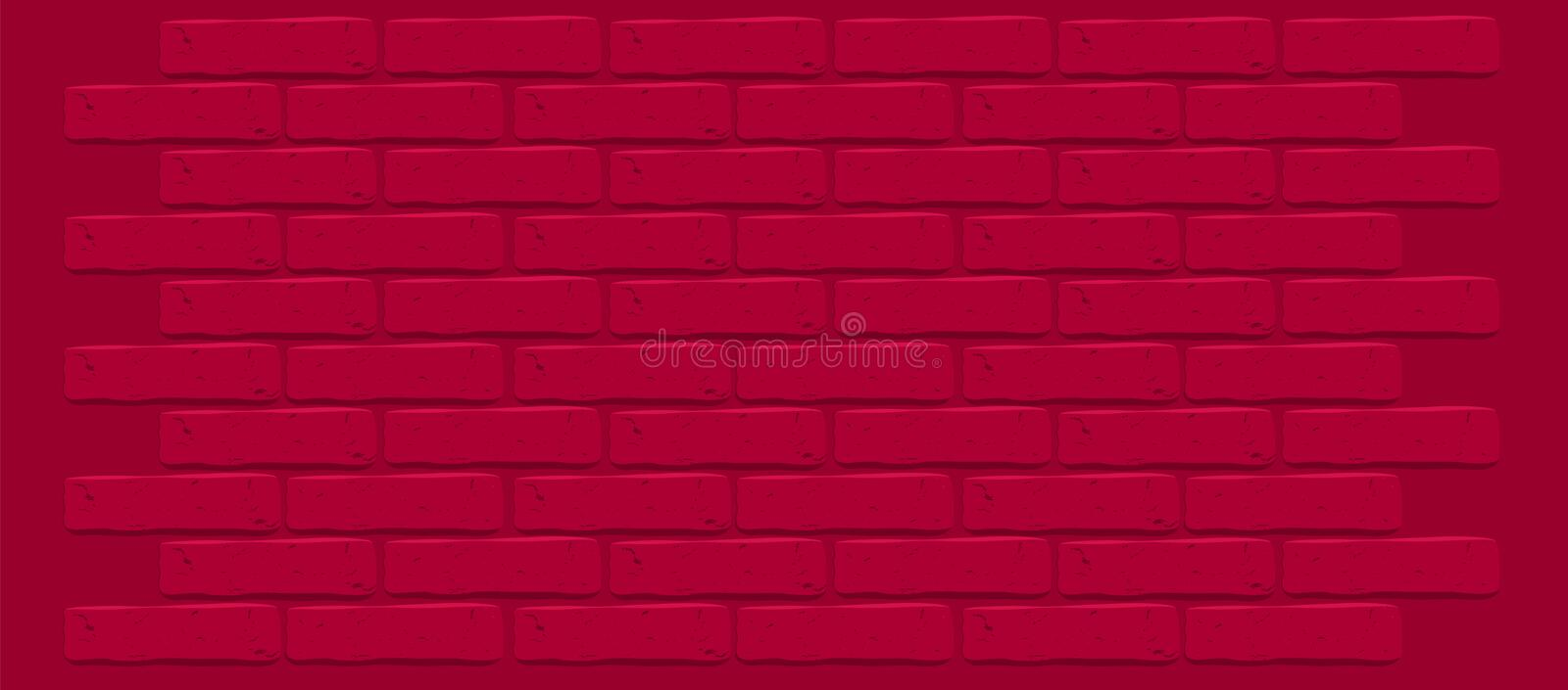 Dark red maroon brick wall texture. Cracked empty background. Grunge wallpaper. royalty free stock image