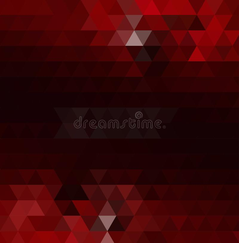 Dark red polygon abstract background. Modern geometrical abstract illustration with gradient. vector illustration