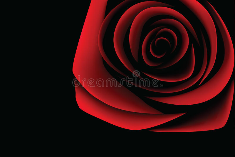 Dark red rose - (VECTOR) royalty free stock photo