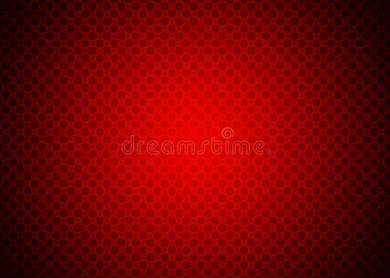 Dark Red Techno Ornamental Pattern Background Wallpaper royalty free illustration