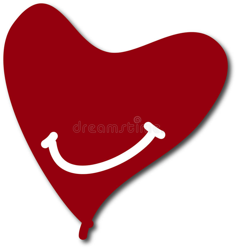 Dark red valentine heart smile background stock photography