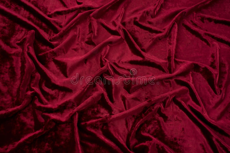 Dark Red Velvet Stock Photo